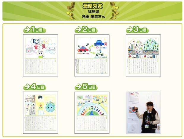 2012年度の、日本の最優秀賞。