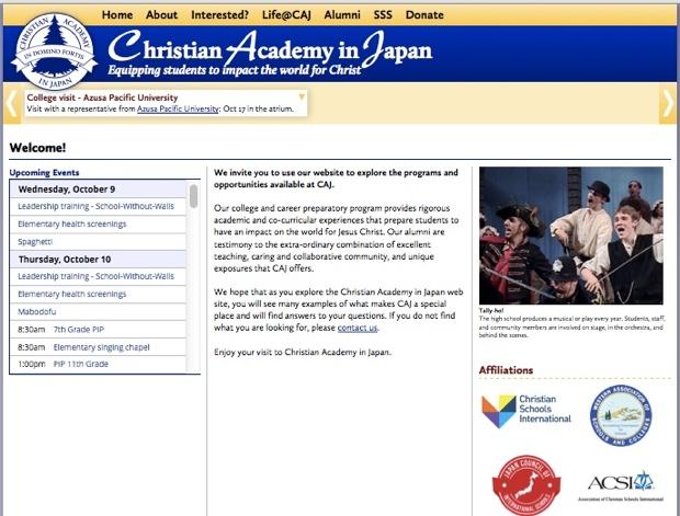 christian academy japan