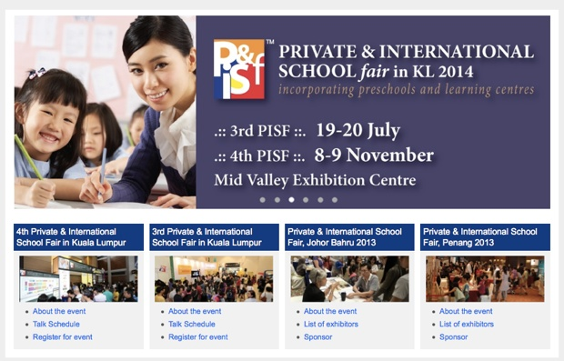 private international school fair KL 2014