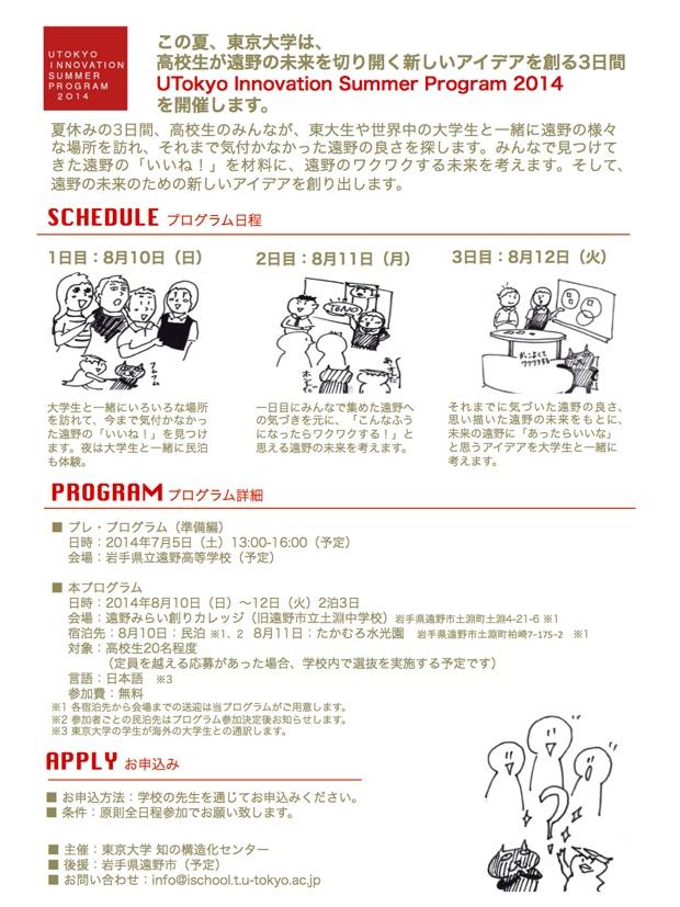 東京大学イノベーション・サマープログラム2014
