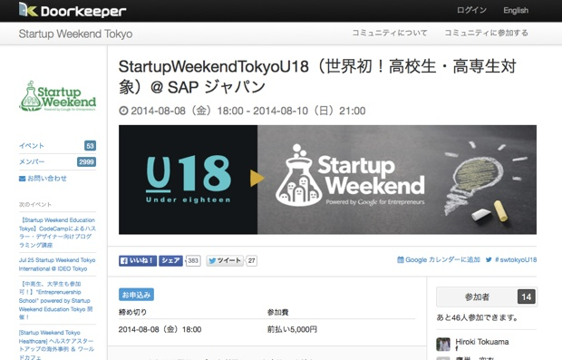 StartupWeekendTokyoU18