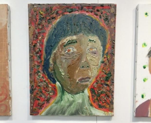 6年生の油絵の作品。油絵だと表現の幅も広がります。