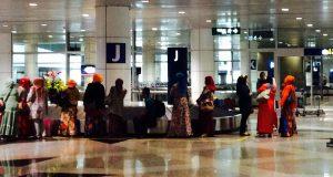 KL国際空港にて