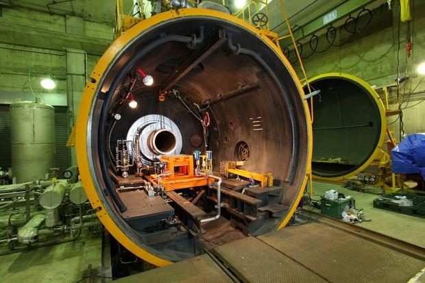角田宇宙センター、ロケット高空性能試験設備(写真提供/JAXA)。