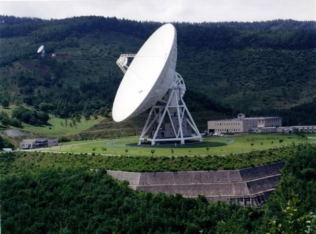 臼田宇宙空間観測所、64mパラボナアンテナ(写真提供/JAXA)。