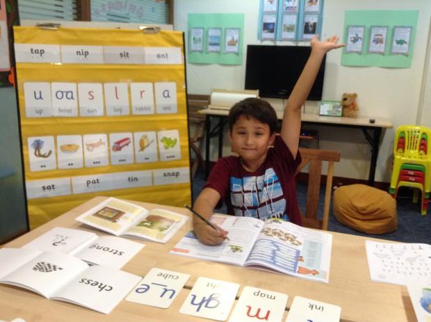 先生の息子さんも一緒に勉強しています