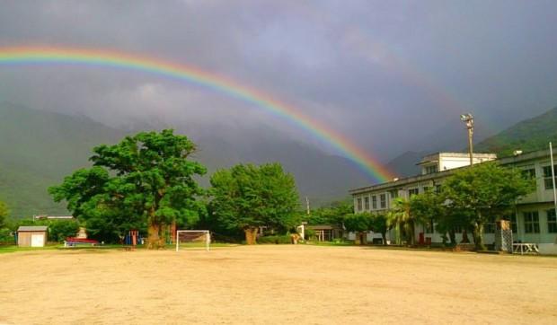「かめんこ留学」を実施している、永田小学校。