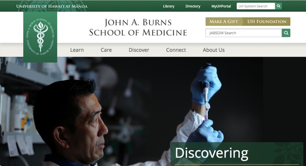 2015年8月に「ハワイ大学」医学部(University of Hawaii, John A. Burns School of Medicine)と「医学教育連携に関する覚書」を締結。