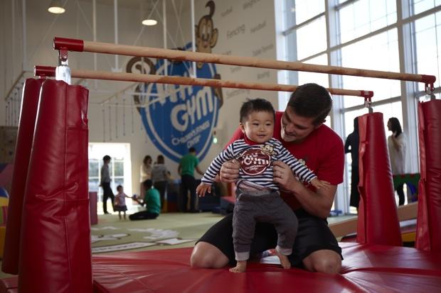「My Gym」は、ネイティブ英語と共にフィジカルとメンタルを育む0才〜6才を対象としたフィットネスクラブ。