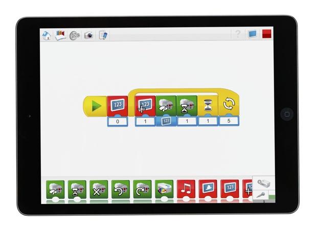 プログラミングソフトの画面。