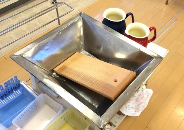 洗濯板が使えるコーナー。