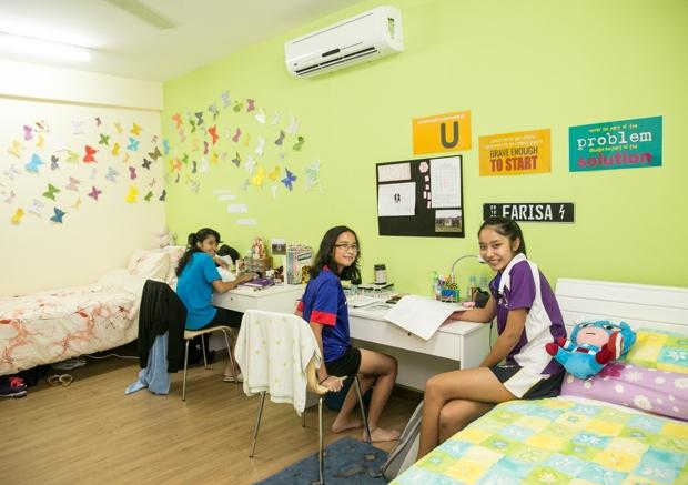 「ハウス」と呼ばれる寮。低学年では3人でひと部屋をシェア。高学年になるとふたり部屋や個室を使える。