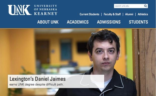 ネブラスカ州立大学カーニー校の公式サイト。