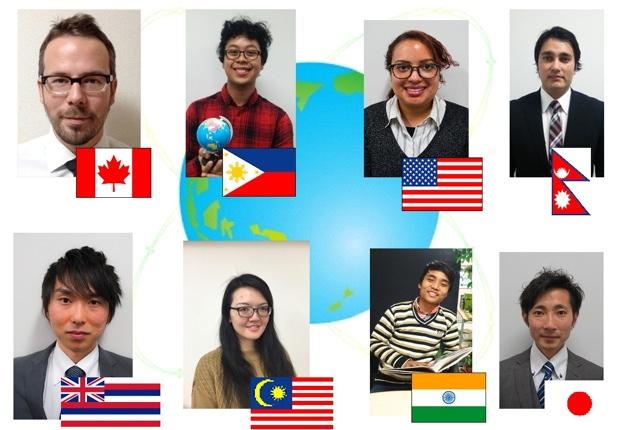 アメリカ(ハワイ含む)、カナダ、マレーシア、ネパールからの先生が教えてくれます。