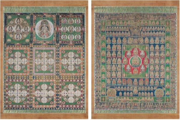 宇宙を仏教観点からひもとく。「両界曼荼羅」(鎌倉時代)