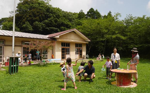 「あまマーレ」にて7月に開催された、「シャボン玉イベント」。