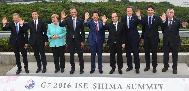 伊勢志摩に集った、各国のリーダーたち(伊勢志摩ホテル提供)。