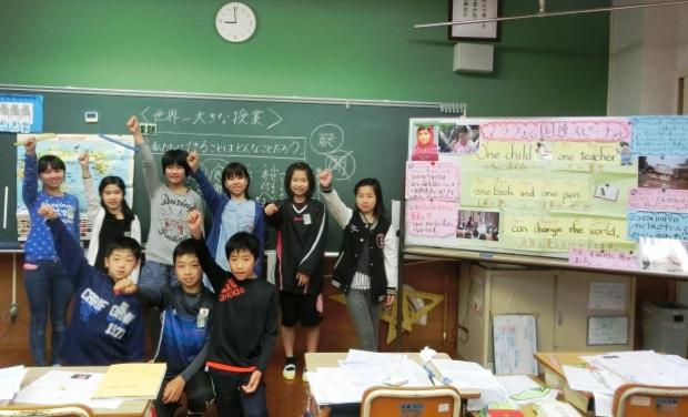 南島原市立大野木場小学校(長崎県)。