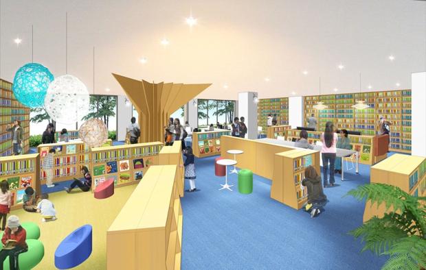 校舎内に設置される「リソースセンター」のイメージ。