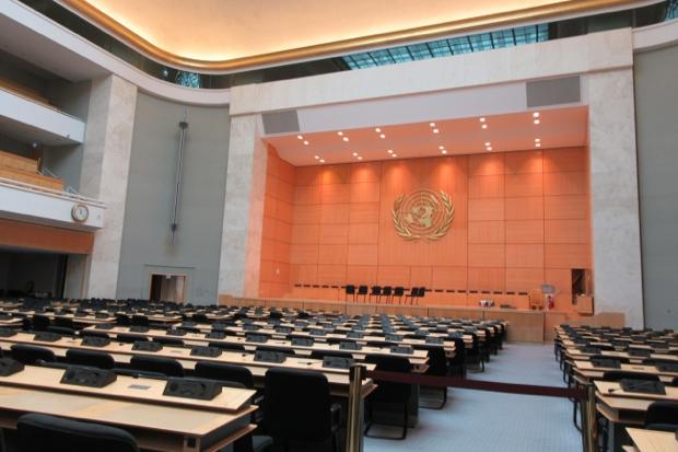 国連ヨーロッパ本部 。ガイドによる1時間の見学ツアーも設けられており、躍動する世界を肌で感じることができるはず。