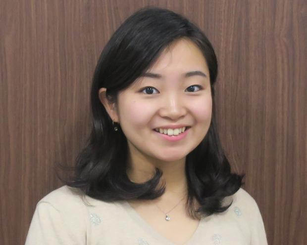 籠田博美さん(慶應大学法学部政治学科4年)。英検1級、TOEICは990点。
