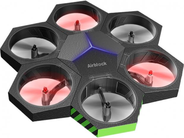 「Airblock」は、STEM教育ロボットを販売する、中国のMakeblock(メイクブロック)社が開発した製品。