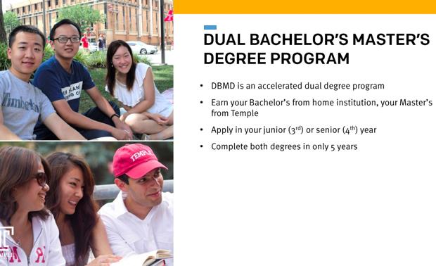 テンプル大学の「DBMDプログラム」の説明資料より。