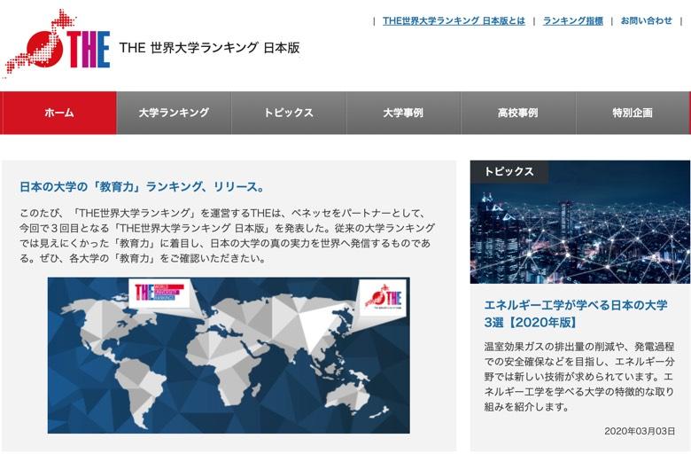 【THE世界大学ランキング日本版2020】首位東北、2位京大、3位東大・東工大…総合50位は?